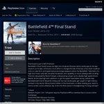 Free - Battlefield 4 Final Stand DLC PSN