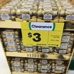 Ferrero Rocher 16pk/200g Clearance - $3 (Was $12.60) @ Woolworths Coburg Hill VIC