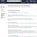 Get a $5 Reward if You Are Reloading Your Amazon.com Gift Card Balance for The First Time and You Reload with $100 or More