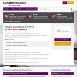 OzBargain 10th Birthday: Triple Cashback on Virgin Australia Flights (3% Domestic, 4.5% International) @ Cashrewards