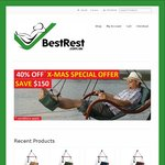 BEST REST Hammock Hanging Chairs $229 (Save $150) or with Stand $449 (Save $200) + Shipping @ BestRest.com.au - Express Delivery