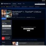 Battlefield 1+ Titanfall 2 Bundle Deluxe Edition AU PSN PS4 for $92.95 (Was $195.45) Plus Get $15 PSN Voucher