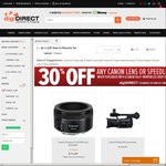 10% off Canon @ digiDIRECT (Stacks with The 30% Lens Deal)