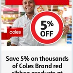 5% off Coles Brand Red Ribbon Products for 3 Months @ Coles (Flybuys Members)