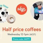Half Price Coffee through Skip App between 12PM - 1PM 19/7 [QLD, NSW, VIC]