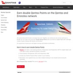 Earn Double Qantas Points on Flights to Europe with Qantas/Emirates