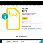 Free $2 Optus Sim @ Optus Online Store with Startrack Next Day Delivery
