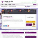 $50 Cashback on Interserver.net (Lowest Hosting Package $5 USD /Month ( $6.38) Via Cashrewards