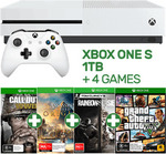 Xbox One S 1TB + 4 Games (COD WWII, GTA 5, ACO, RSS) - $379 @ EB Games
