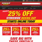 Minimum 25% off Storewide @ Supercheap Auto