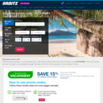 Orbitz 15% off Hotel Bookings