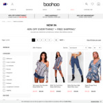 40% off Everything and Free Shipping over $60 @ Boohoo.com