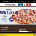 Domino's Deals: 2 Sides: $7, 3 Sides: $9.95, New Yorker Pizzas: $14.95 Pickup, Oven Baked Sandwiches $5.95 (before 5pm) + More