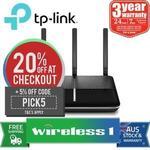 TP-Link Archer Vr600v AC1600 Wireless Gigabit VoIP VDSL/ADSL Modem Router $135.36 (Was $188) @ Wireless1 eBay