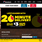3 Value or Traditional Pizzas Delivered for $29.95 @ Domino's