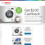 Claim $100 Cashback on Purchases of Selected Bosch Heat Pump Dryers OR $100 Worth of Finish Products on Bosch Dishwashers