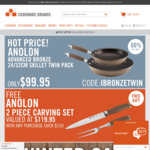 Free Shipping with No Minimum Spend Items from $2.95 Delivered @ Cookware Brands
