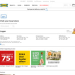 [QLD] 1 Day Sale - ASKVOLL Drawers $19 (Was $69), GLADOM Tray Table $5 (Was $15), EKERO Armchair $69 (Was $199) @ IKEA Logan