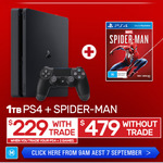 1TB PS4 Slim + Marvel's Spider-Man $229 (When You Trade in PS4 + 2 Games) @ EB Games