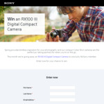 Win a Sony RX100 III Digital Compact Camera Worth $999 from Sony