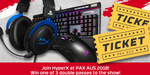 Win 1 of 3 PAX Double Passes or a HyperX Cloud Headset/Pulsefire FPS Pro Mouse from HyperX ANZ