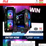 Win a PLE Custom Built Cooler Master Gaming PC & Peripheral Bundle Worth Over $2,100 from PLE