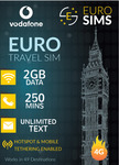 35% off Vodafone Europe & Turkey Travel Sims - 2GB Data to 20GB Data - Starts from $22 @ Euro Sims