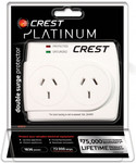 Crest 1,836 Joules Surge Protector: Double Outlet $12, Single Outlet $9 (C&C or + Shipping) @ Bing Lee