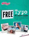 Claim a Free $5 Typo eGift Card When You Purchase Kellogg's Cereal