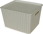 All Set Rattan Style Storage Containers with Lid -  39L $5 @ Bunnings