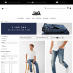 2 for $49 Selected Denim Online and Instore + Shipping (if Ordering Online) @ JAG