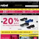 20% off Nike Shoes @ Rebel Sport
