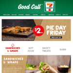 $2 Pies, Pasties, Burritos & Sausage Rolls, Fridays in May @ 7-Eleven