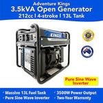 [eBay Plus] Kings Generator 3.5kva $339.63 Delivered @ 4WD Supacentre eBay