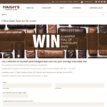 Win 1 of 5 Chocolate Bar Hampers Worth $100 from Haigh's