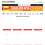 First 5 issues of Print & Digital Magazines for $5 USD (Free Shipping) Incl. PC Gamer, EDGE, ImagineFX @ MyFavouriteMagazines UK