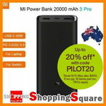 Xiaomi Power Bank 3 Pro 20000mAh USB-C $48.96 + Delivery ($0 with eBay Plus) @ Shopping Square eBay