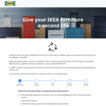Free Web App for Estimating Buyback Value of Used IKEA Furniture - Give Your IKEA Furniture a Second Life