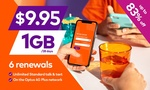 6x 28-Day amaysim Renewals of 1GB Unlimited Plan (New Customers) $9.95 | $8.45 @ Groupon