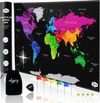 45% off Scratch off World Map (82cm X 54cm), $14.18 + Delivery ($0 with Prime/ $39 Spend) @ Amazon AU