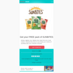 Free $5 Coles or Woolies Gift Card (for Sunbites Purchase) @ Social Soup