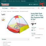 Swing Slide Climb 100x100x75cm Play Equipment Ball Pit Tent $9.90 @ Bunnings