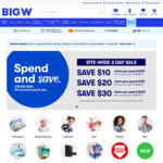 Spend $100 Save $10, Spend $150 Save $20, Spend $200 Save $30 (Online Only) @ BIG W