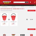 2x SCA Plastic Bucket - 9.6 Litre $1.98 C&C @ Supercheap Auto