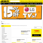 15% off LG and TCL TVs and 20% off Computers @ JB Hi-Fi