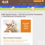 [NSW] $50 off Pet Dental Procedures in March + Free Dental Checks @ Dr. Paws (Artamon)