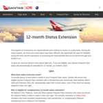 Qantas Frequent Flyer 12 Month Status Extension