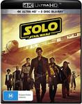 Solo: A Star Wars Story (4K Ultra HD + Blu-Ray + Bonus) $10.99 + Shipping ($0 with Prime or $39 Spend) @ Amazon AU