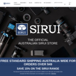 15% off Sitewide @ SIRUI