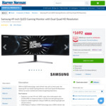 "Samsung LC49RG90SSEXXY 49"" Gaming Monitor $1692 @ Harvey Norman"